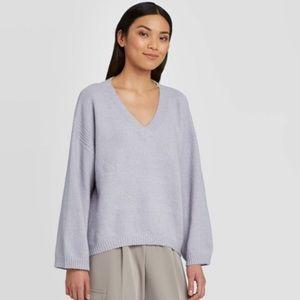 Women's V-Neck Pullover Sweater Large